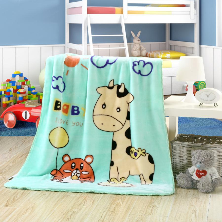 Custom 100% polyester fleece Children baby Napping cloudy/Flannel/Coral blanket