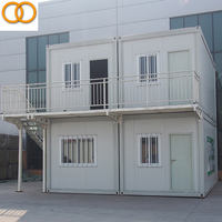 Two-storey Prefab House 20ft portable low cost prefabricated hotel container