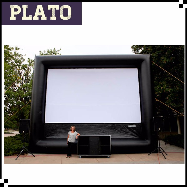 Giant inflatable projection screen for Colorado School Dance DJs