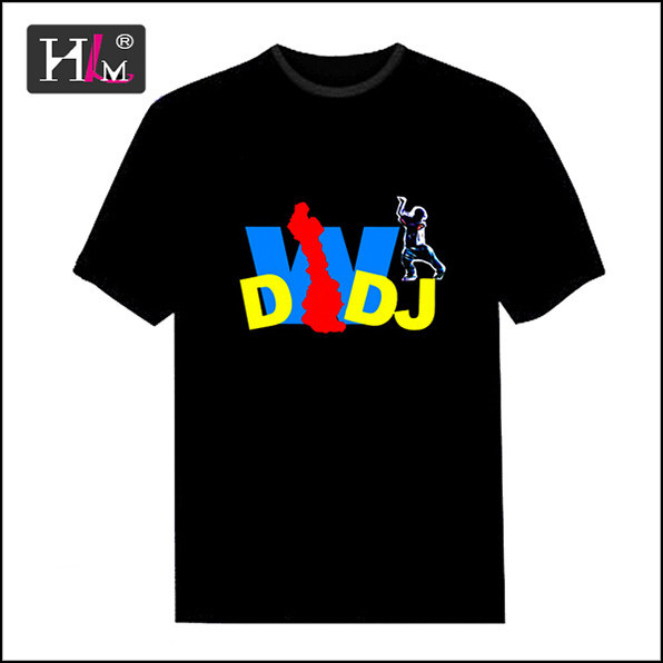 New design new arrival china Manufacturers custom led light t shirt for boy