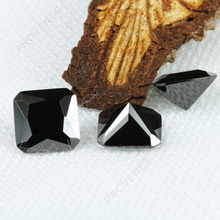 Top quality square shape radiant cut black cubic zirconia cz stones
