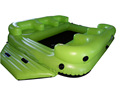 Lounge inflatable floating island rafts with 8 cup holders