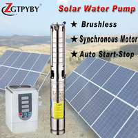 Feili solar powered deep bore well submersible water pump for agriculture