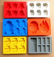 New products FDA approved food grade 6 different shaped lego non-stick silicone chocolate molds set