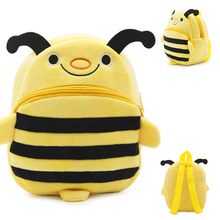 3-4 year-old children gift cute animal shped bee plush kids school backpack