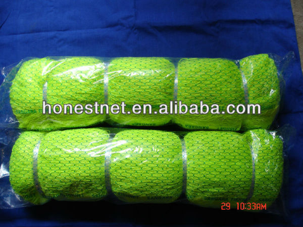 Green Colour Nylon Polyester Multifilament Fishing Net Single Double knot knotless net