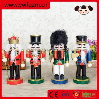 christmas gift hand paint wooden toy soldier nutcracker