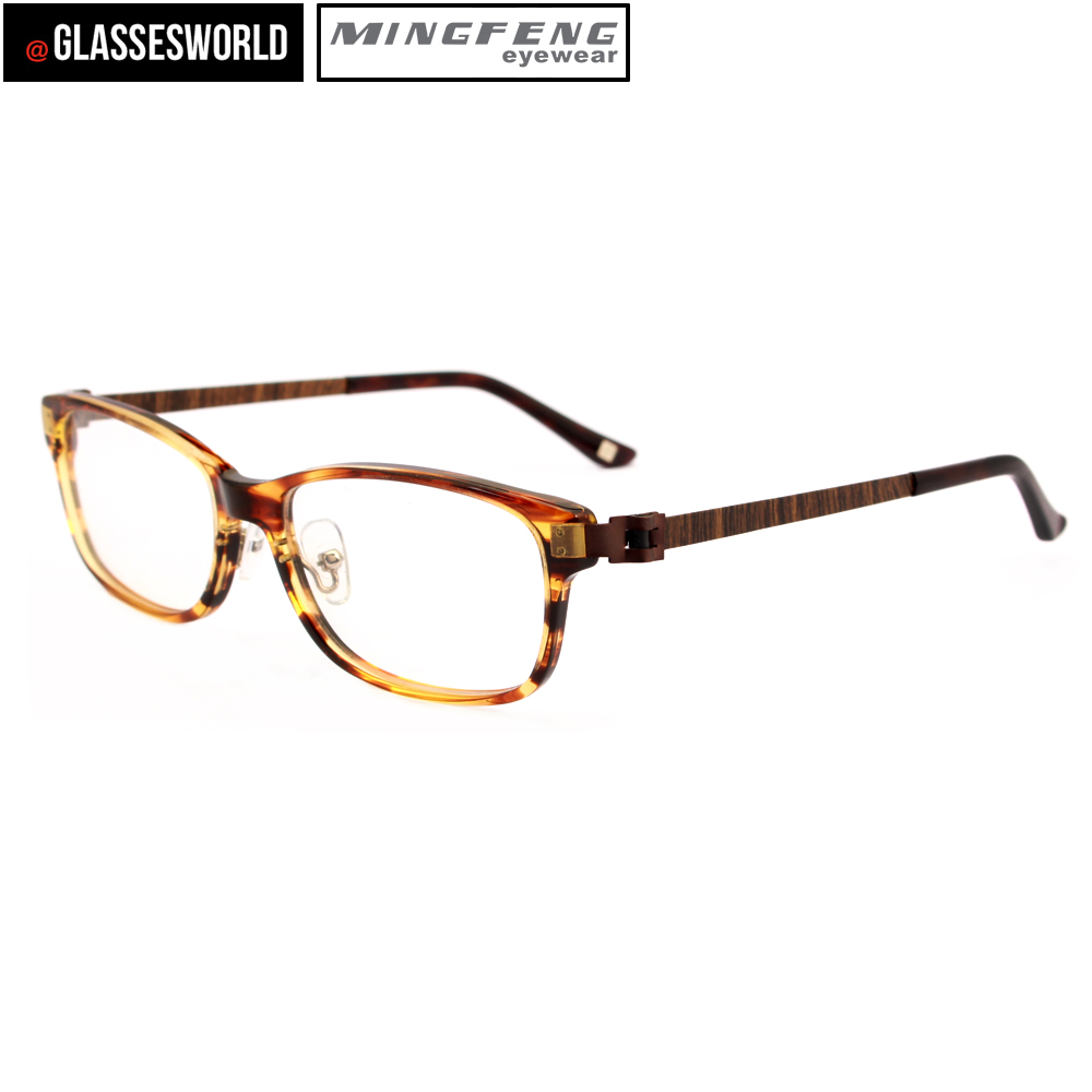 Factory Wholesale High Quality Acetate Glasses Frame Stainless Steel Optical Frame