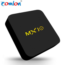 Direct sale RK3328 tv box 4GB 32GB MX 10 KODI 17.1 HDR H.265 Android 7.1 smart tv box 4k with High speed USB 3.0