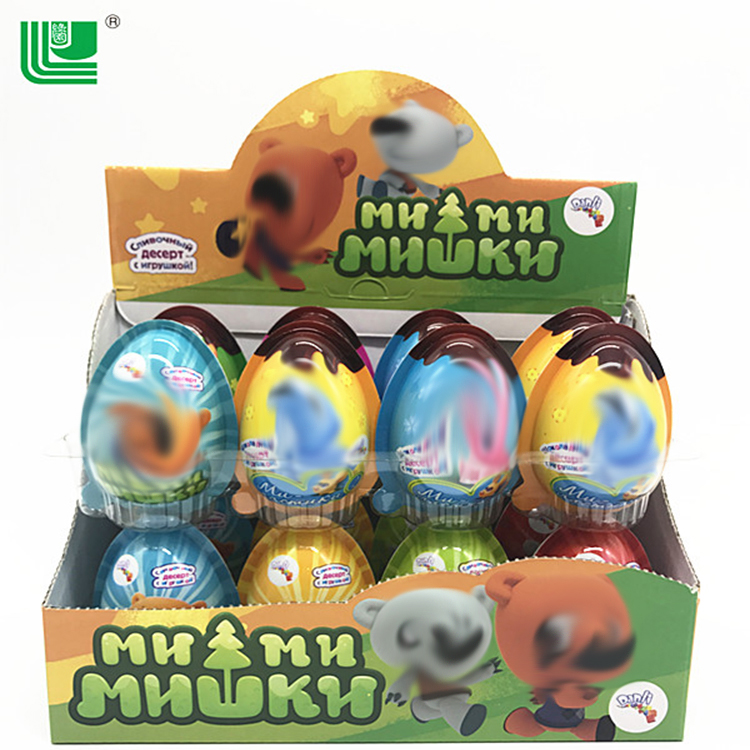 Healthy surprise egg chocolate mixed biscuit with toy