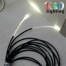 Residential bathroom ceiling starry and pool floor decorative star sky light waterproof solid core end glow fiber optic light
