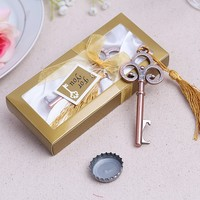 "NEW ARRIVAL+Wedding Favors and Gift ""Key To My Heart"" Antique Wine Bottle Opener+100sets/LOT+FREE SHIPPING"