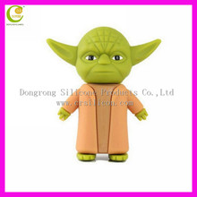 Christmas silicone star war character usb for gift/PVC christmas tree usb/custom cartoon PVC usb flash drive