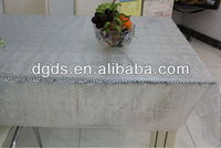 Silver PVC Lace Tablecloth