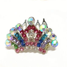 Fashion Jewelry Manufacture Fast Delivery Crystal Alloy india wedding tiaras