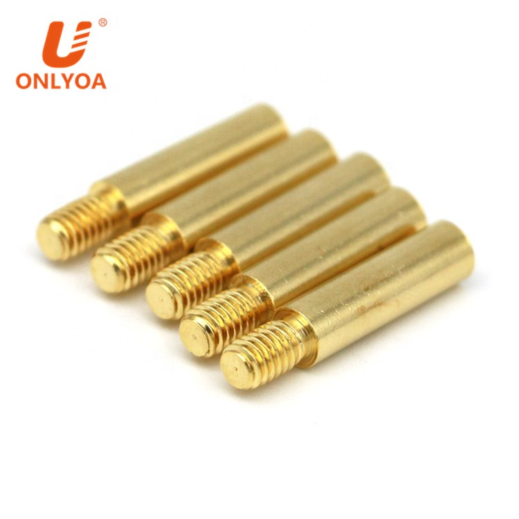 ONLYOA 4mm banana socket copper gold plated M4 thread female <strong>hole</strong> 23.5mm female banana head connector custom
