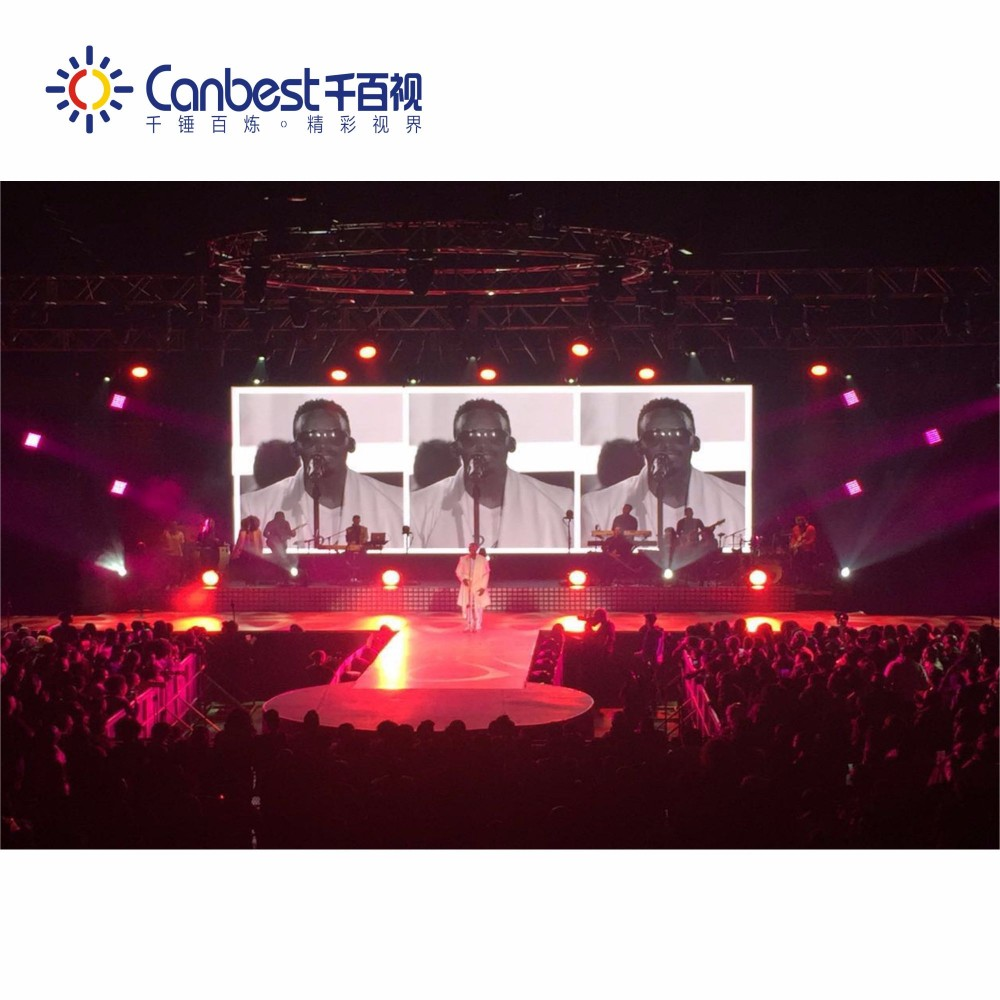 P3.9 indoor full color Stage Music Rental Use Concert LED Screen