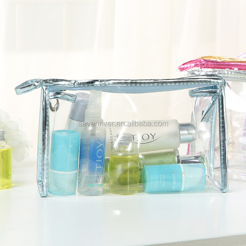 custom creative wholesale pvc transparent cosmetic bag