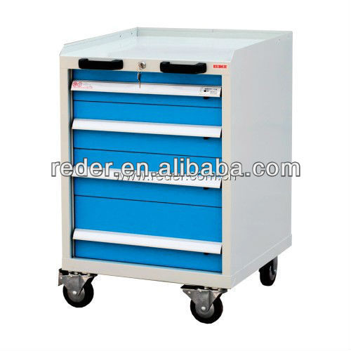 Cheap industrial heavy duty mobile drawer tools cabinet with 4 drawers