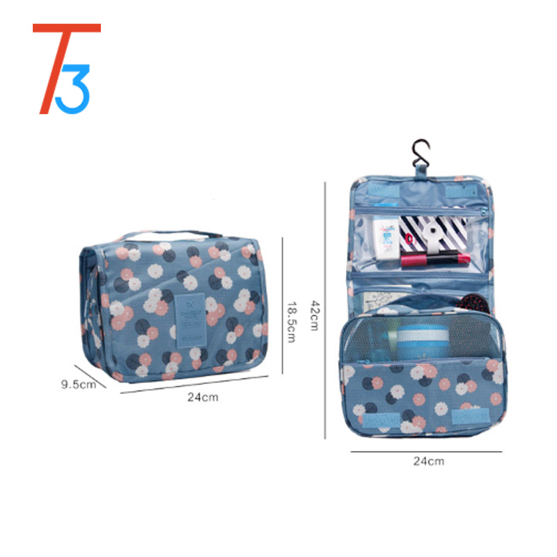 <strong>Promotion</strong> fashion travel cosmetic organizer wholesale hanging makeup bag