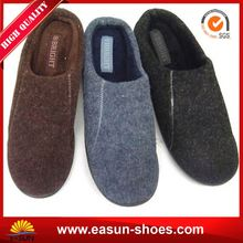 Slippers italian sheepskin moccasin latest man leather shoe