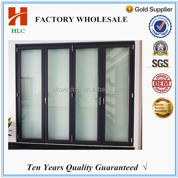 soundproof house used aluminum accordion exterior glass folding doors