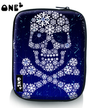 ONE2 design bling blue skull custom printed laptop sleeve case bags for girls