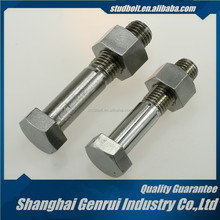 Stainless steel M48 2-1/2 aluminium galvanized decorative bolt and nut