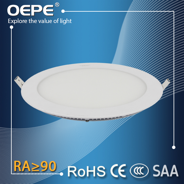 18wGood price ultra slim square/ round led light panel,led recessed ceiling light
