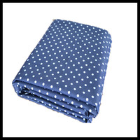 blue white dot printing silver fiber anti-bacterial anti radiation fabric for protection suit