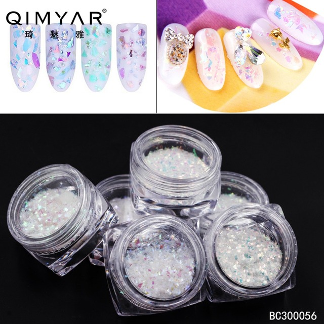 Nail Art Sticker Decoration Glitter Glass Paper Fragments Crushed Shell 3D DIY Polish Nail Decoration
