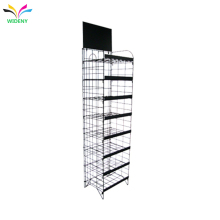 counter supermarket customized adjustable metal wire cigarette display rack