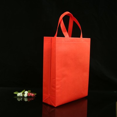 Eco Plastic Grocery Custom Logo Promotion Reusable Loop Handle Tote Recycle Carrier Shopping Pp Non Woven Bag