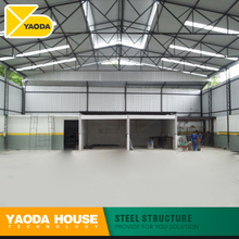 two storey prefabricated steel structure warehouse factory