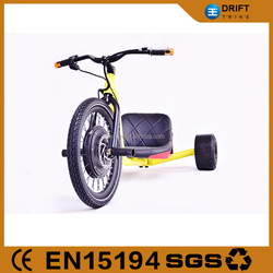 steel frame and comfortable flying drift trikes reverse electric tricycle for adults