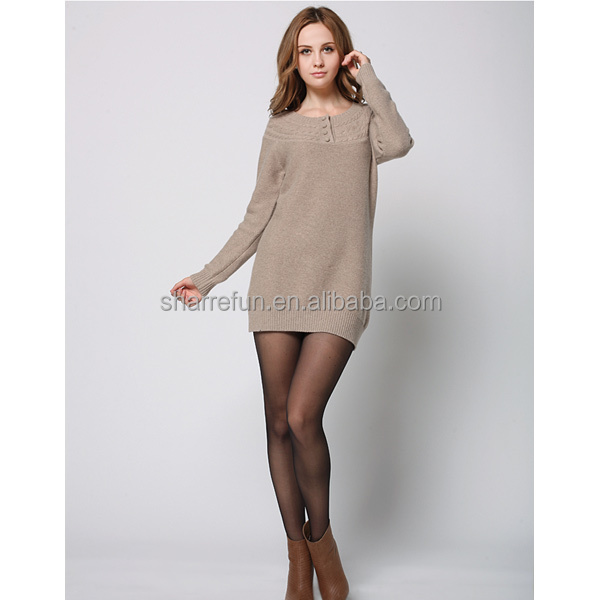 Lady Soft New Fashion 100% Cashmere Sweate with Factory Price