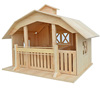 Vivid Children Toy Natural Unfinished Wooden Little House