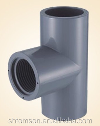 "4"" x 1-1/2"" Sch 80 PVC Reducing Tee - Soc x Fipt"