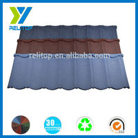 Al-Zinc building material stone chip coated metal roof tile manufacture