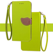 5 Colors Litchi Texture Double Colors with Lanyard Magnetic Leaves Button Cover Leather Case for iPhone X