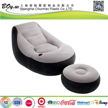 factory wholesales air furniture relaxation grey pvc flocked lounge inflatable sofa chair set
