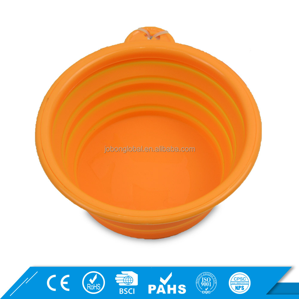 Outdoor Foldable Pet Water Bowls Portable Travel Silicone Collapsible Dog Bowl