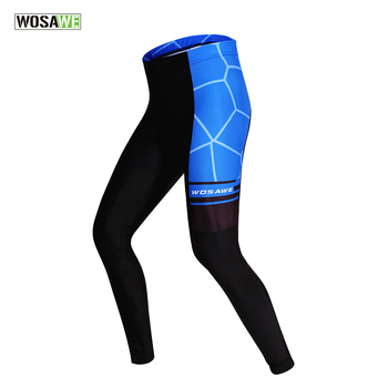 WOSAWE Cycling Tights Cycling Pants MTB Bike Bicycle Long Pants Thin Summer Protective Pad Padded Sportswear