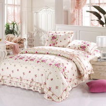 bedding full fitted sheet 200 thread count 100% cotton bed sheets,chinese cotton bedding set,dot printed bedding set
