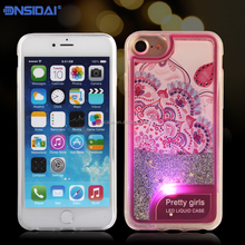2017 unique design coloful frame phone case with LED flash for iphone 6 7 plus