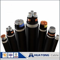 Medium voltage 11kV 15kV 33kV CU/XLPE/SWA/PVC steel wire armoured XLPE insulated power cable price