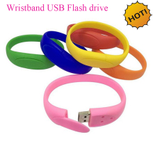 High Quality rubber wrist band usb flash drive pendrive wholesale from china