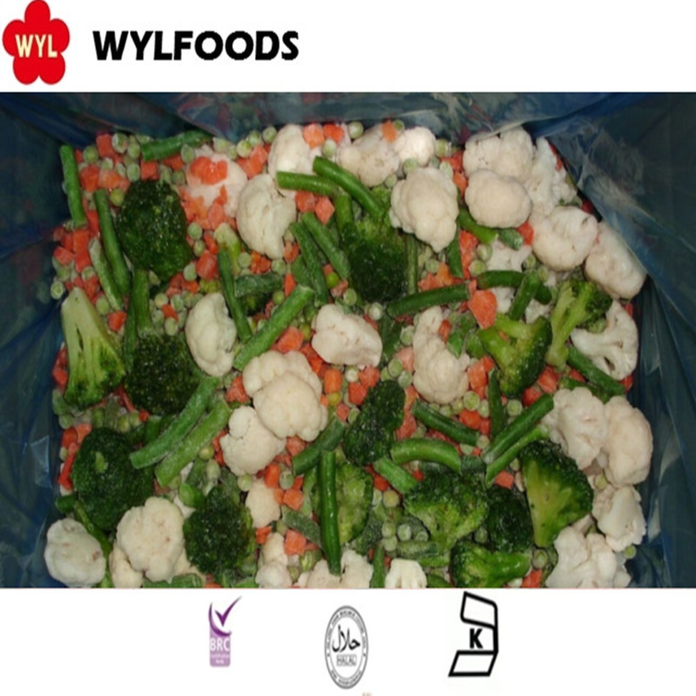 Bulk frozen Spring mixed vegetable with cauliflower, broccoli , Green beans, Green peas