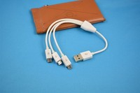 for samsung android data line, multi USB 3in1 micro charge cable