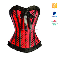 Western Style Steel Boned Wholesale Corset With Black Bow